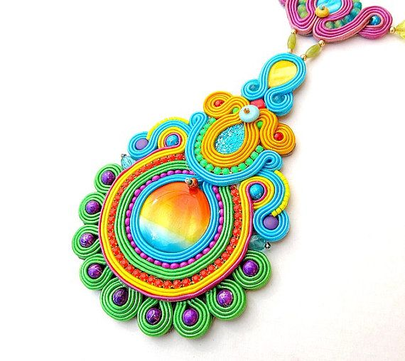 High Fashion Colorful Statement NecklaceStatement by StudioGianna