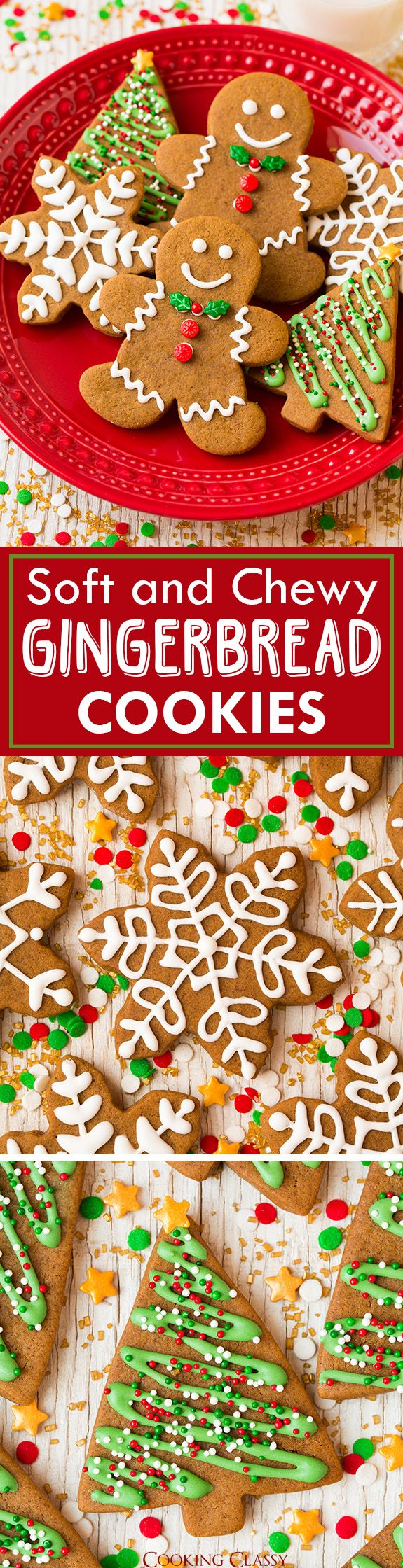Gingerbread Cookies - A Christmas cookie must! Soft, gingery and utterly delicious! Even better the second day.