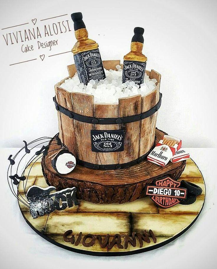 Oltre 25 fantastiche idee su Torta al jack daniels su Pinterest
