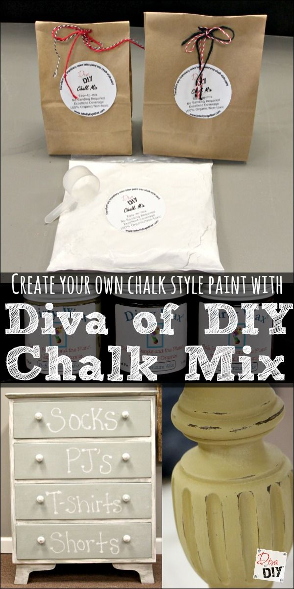Make your own Affordable Chalk Style Paint with The Diva of DIY Chalk Mix! This isn't your regular, not quite right homemade chalk style paint recipe!