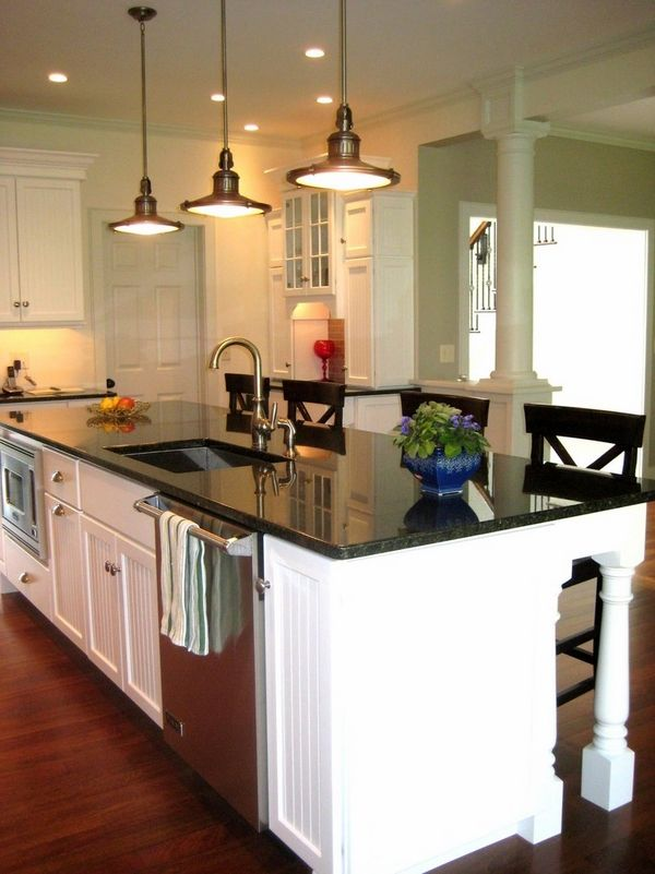 uba tuba granite countertops with white backsplash and kitchen cabinets pendant lighting fixtures