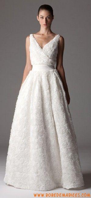 Robe de mariée romantique applique de fleur