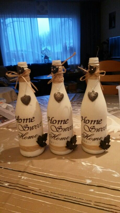Flessen versierd