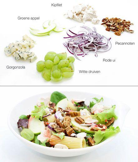 Pastasalade met kip en gorgonzola - Recepten zoeken
