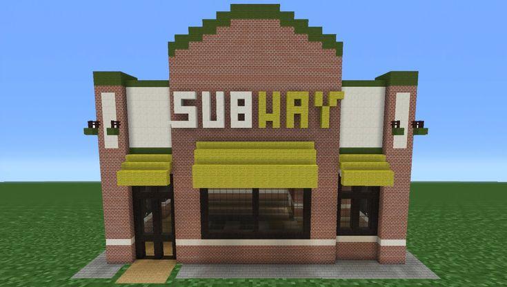 Minecraft Tutorial: How To Make A Subway (Restaurant)