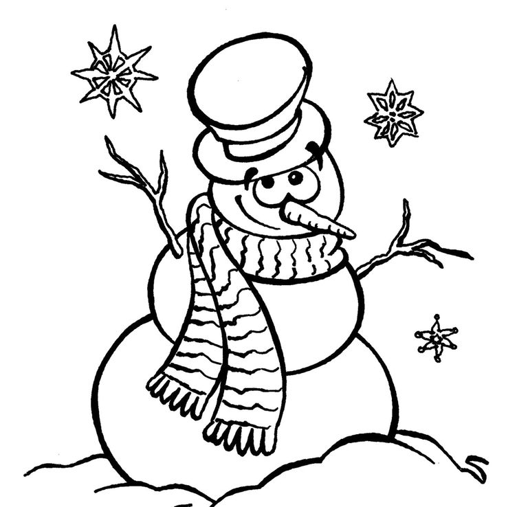 childrens coloring pages snowman hat - photo#8