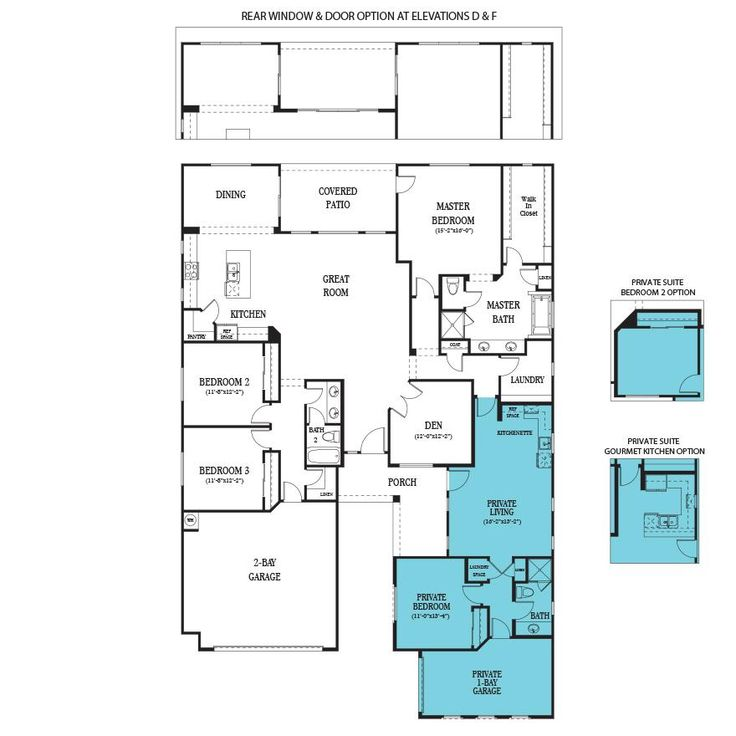 Floor plan for multi generational living in one house for Multi generational home plans