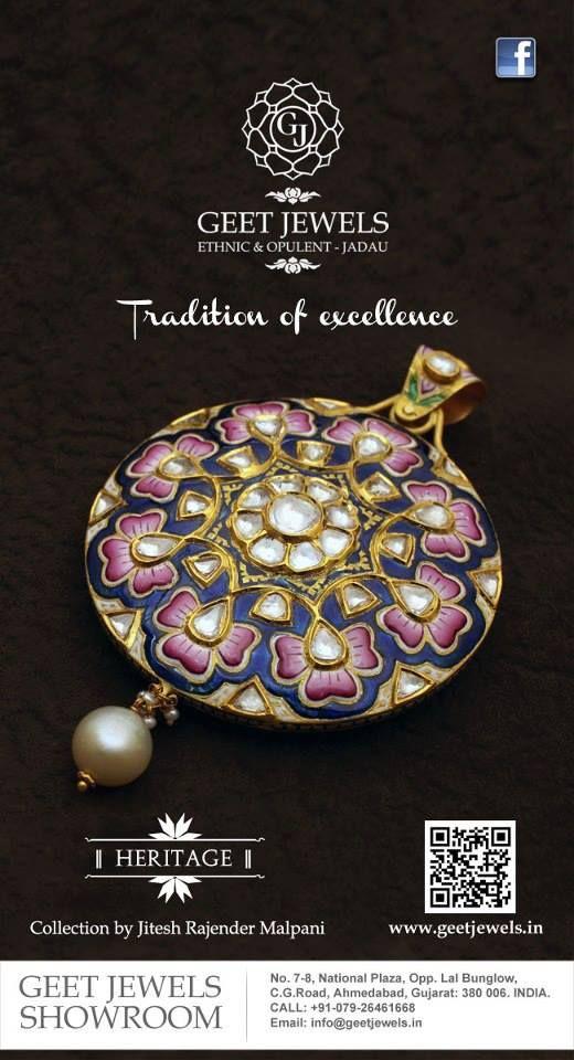 meenakari pendant from geet jewels
