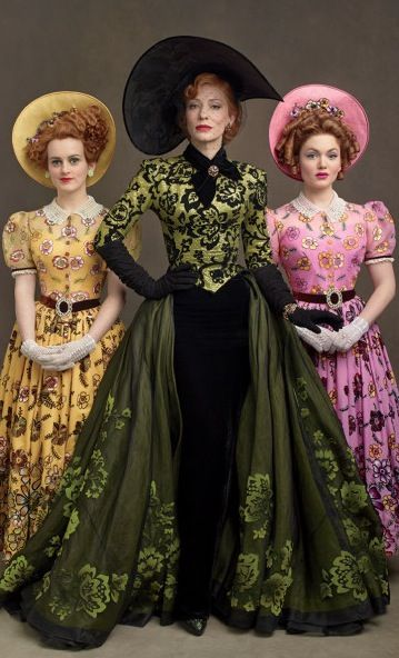 Cate Blanchett as the Wicked Stepmother in Cinderella (2014). Costume Designer: Sandy Powell. Impeccably dressed