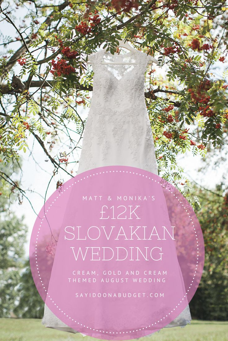 12k Slovakian real wedding feature on sayidoonabudget.com. Matt & Monika had a catholic ceremony in Slovakia with a pink gold and cream colour scheme.