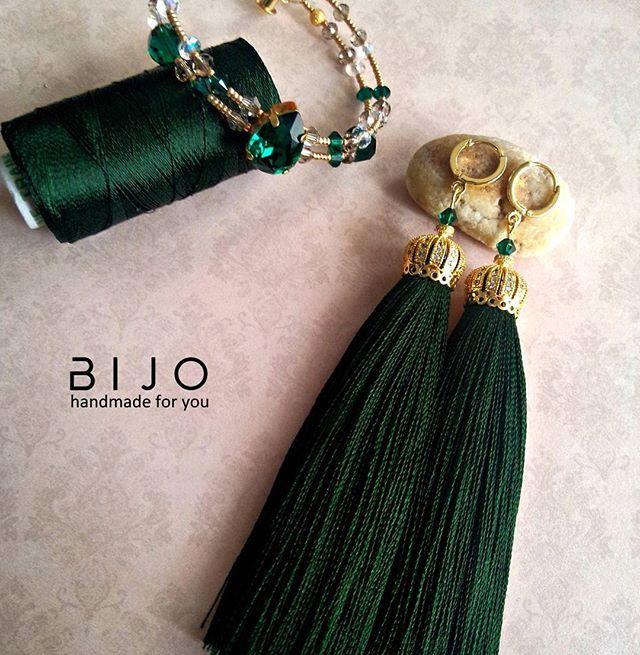 Handmade tassel earrings. LUX.Серьги -кисточки, серьги -кисточками.