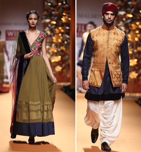 WeddingSutra Editors' Blog » Blog Archive » Manish Malhotra's 'Phulkari' collection at Wills India Fashion Week
