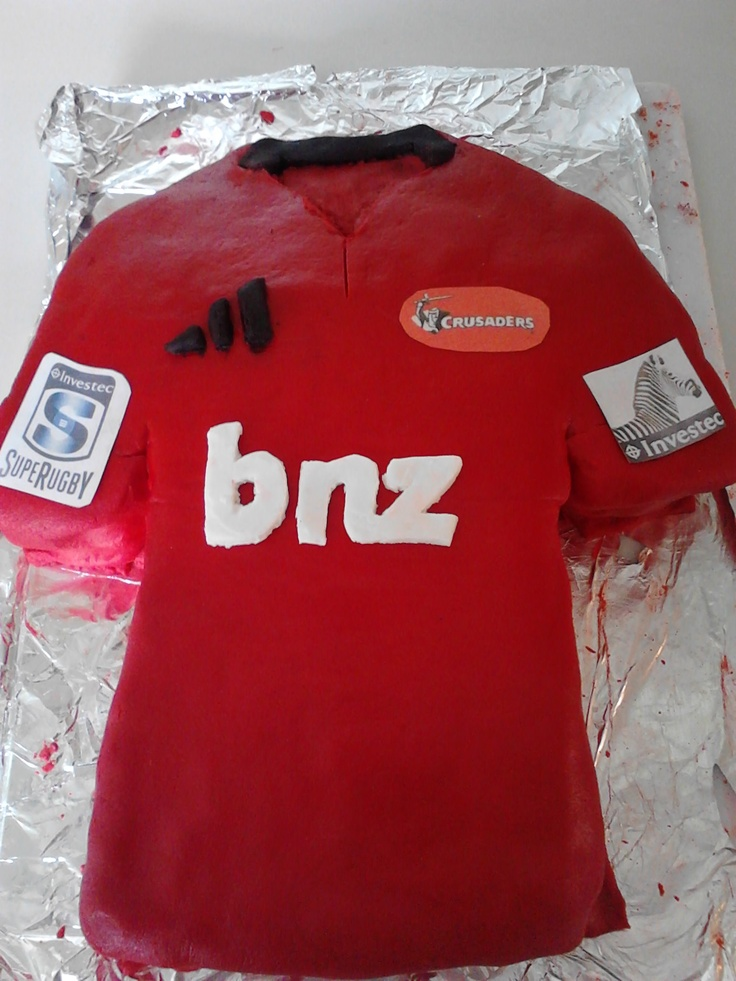 Crusaders rugby jersey cake