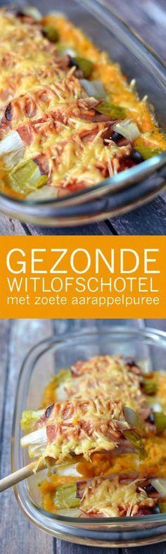 Gezonde Witlofschotel Met Zoete Aardappelpuree