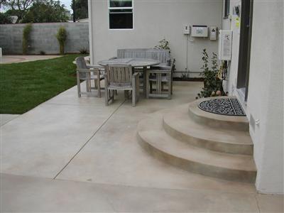 Stairs, Subtle Color  Concrete Patios  California Concrete Designs  Anaheim, CA
