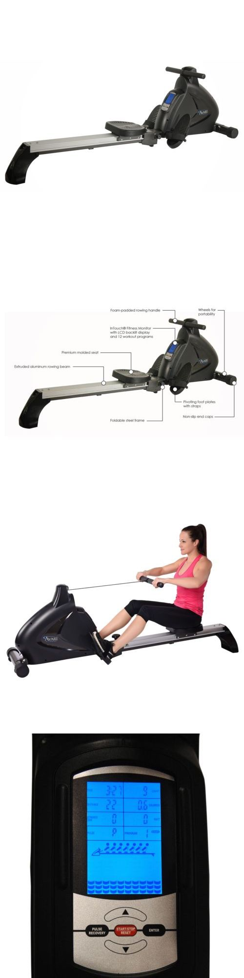 Rowing Machines 28060: Avari Programmable Magnetic Rower By Stamina -> BUY IT NOW ONLY: $842.22 on eBay!