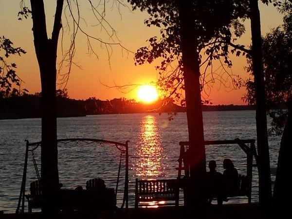 Sunset at Sandbanks Beach Resort on West Lake, Prince Edward County, Ontario