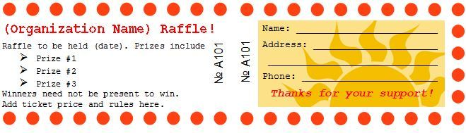 Free Editable Raffle  Movie Ticket Templates  Prizes For