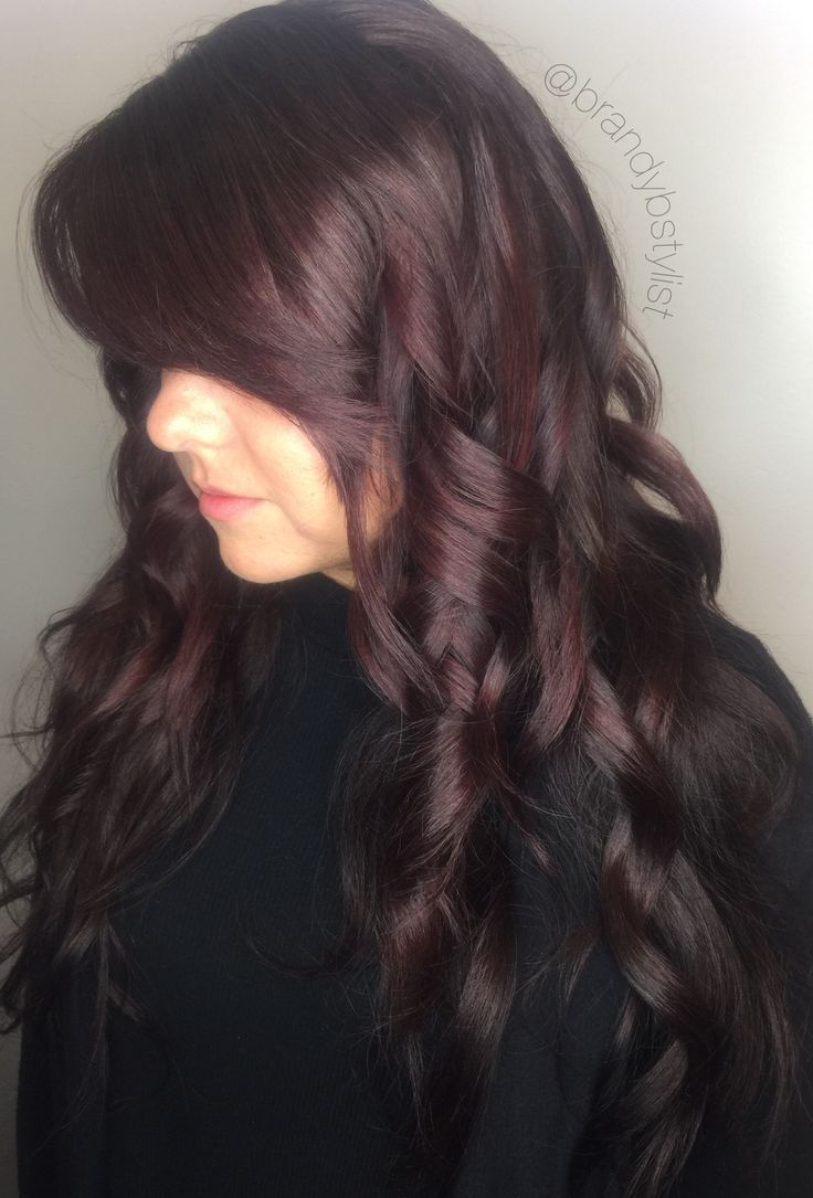 Burgundy Hair Colors Red Color Balayage Purple Chocolate Coloring Ginger Colour