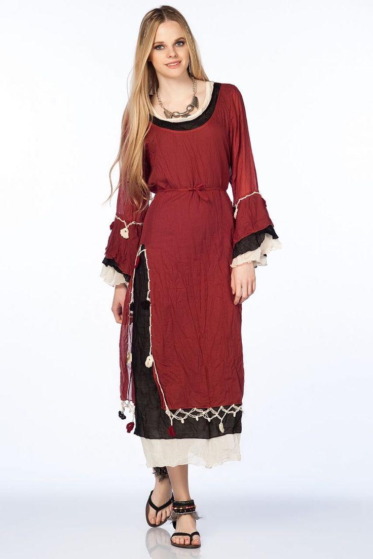 Otantik Gümbet Elbise - Kiremit