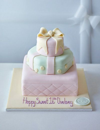 Collections Chocolate Presents Cake | M&S....cute cake idea