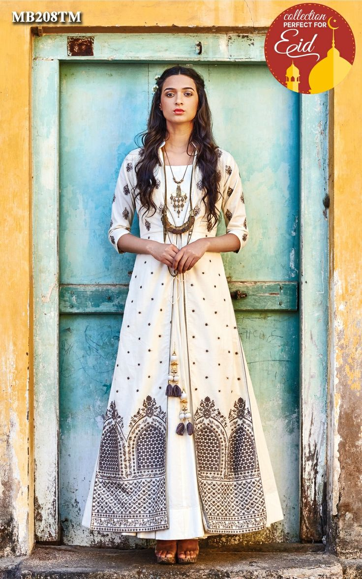 A tale of timeless grandeur,intricate handwork,exemplary cotton and subtle hues of royalty Ivory anarkali jacket suit set immerse in the aura of Mughal magnetism.This exquisite piece crafted with exclusive cotton, an intricately designed mughal inspired embroidered jacket with tie up tassels.It Is paired with churidar bottom & cotton crushed dupatta.Color may slightly be different from the actual item due to photographic lighting sources or the monitor's settings.