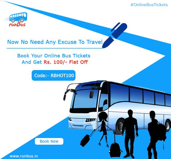 10 best bus booking service images on pinterest bus tickets book book your online bus tickets on this rakshabandhan at runbus and get rs 100 flat off with coupon code rbhot100 fandeluxe Image collections