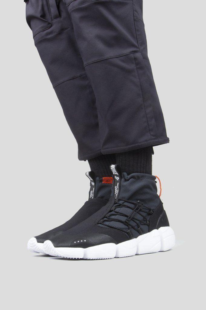 NIKE AIR FOOTSCAPE MID UTILITY DM BLACK SAFETY ORANGE   шмот ... cc563e2028b