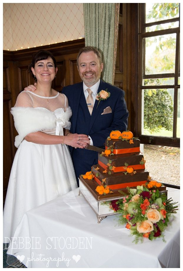 Cutting the cake at Judges Hotel Wedding