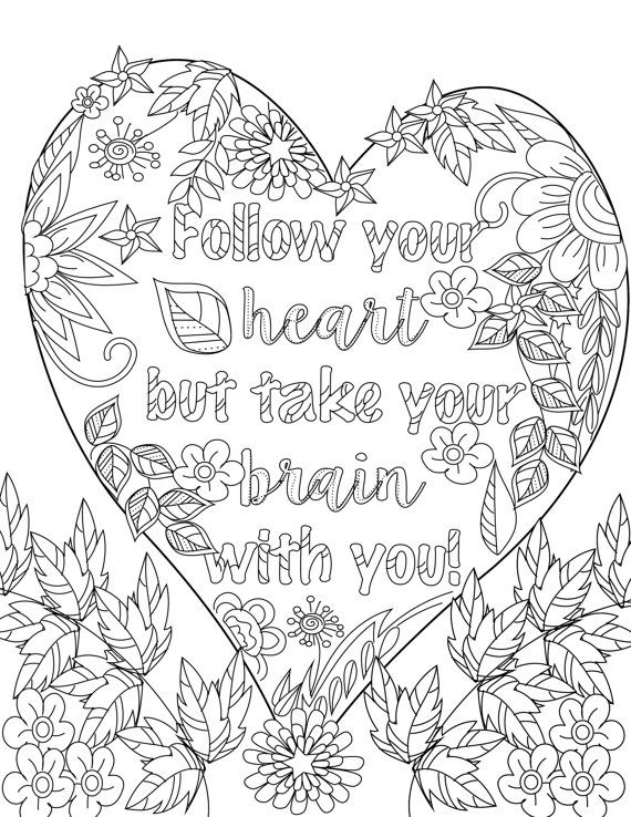 Inspirational Quotes Coloring Pages For Adults : Inspirational quotes a positive uplifting by