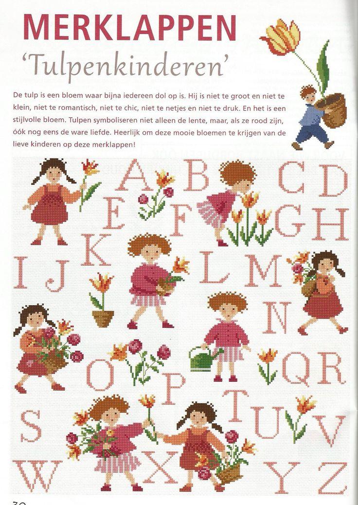Merkenlap Tulpenkinderen - DMC