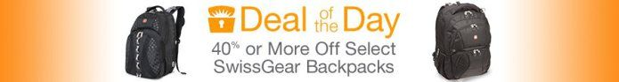 40% or more on select SwissGear Backpacks today only