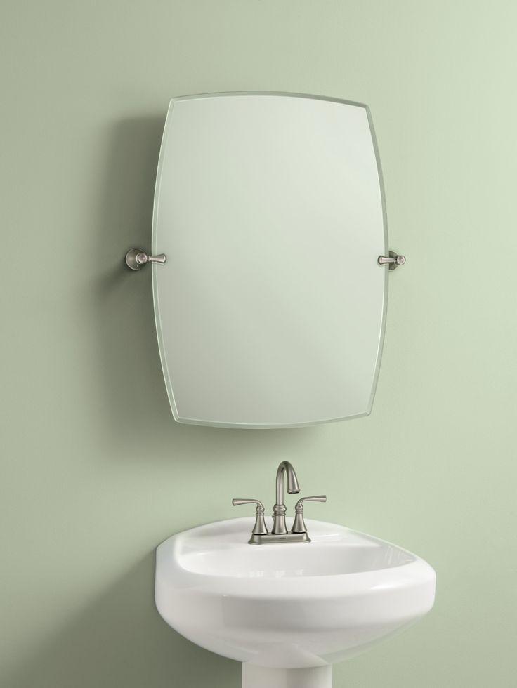 Rockcliff Brushed nickel mirror -- BH5292BN -- Moen