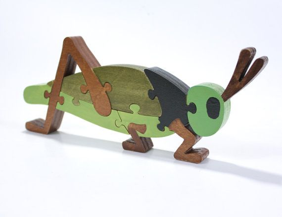 Green #Grasshopper #Puzzle and Room Decoration by @Scott Snella, $19.99