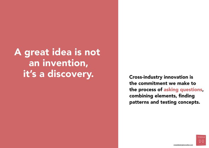 A good idea is a discovery | by Ramon Vullings