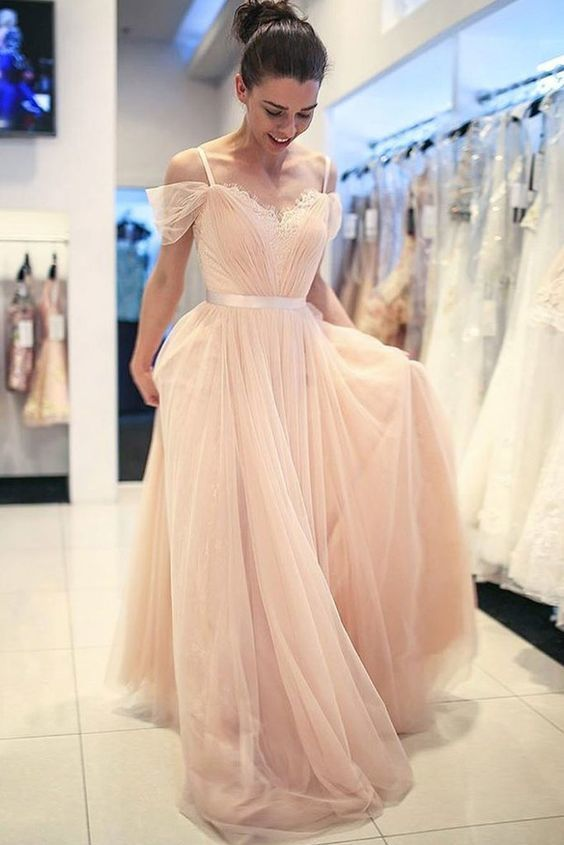 439a844826 Charming Tulle Straps Homecoming Dress