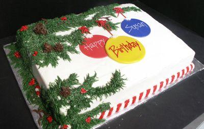 christmas wedding cakes designs   ... Christmas Birthday Cake   Christmas Birthday Cake Ideas   Christmas