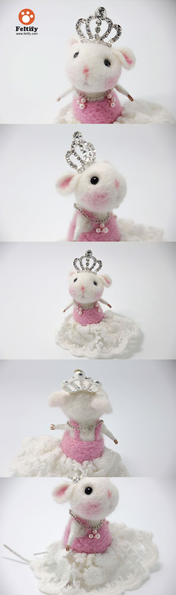 Needle Felted Felting Animals Cute Mice Mouse Princess