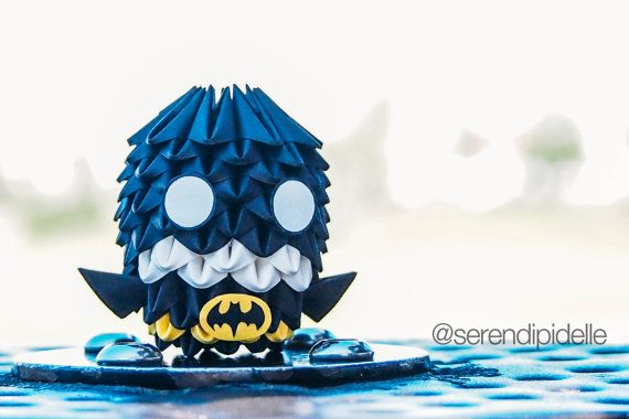 Make Your Own Batman Origami Step-By-Step Guide by serendipidelle