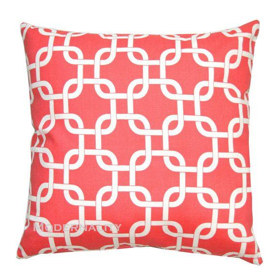 Modern Decorative Pillow Premier Prints Coral by Modernality2, $22.95