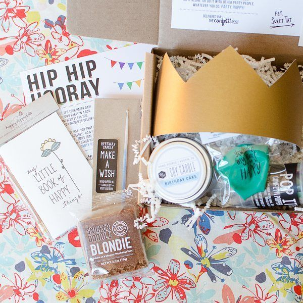 Send a party in a box to celebrate her birthday! | The Confetti Post