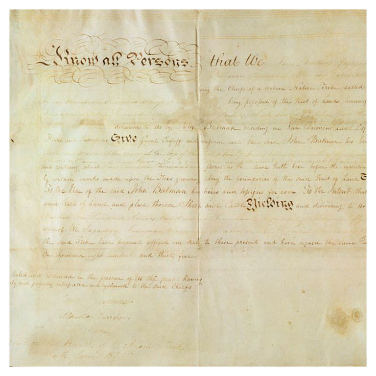 Copy of Batman Treaty signed 6th June 1835