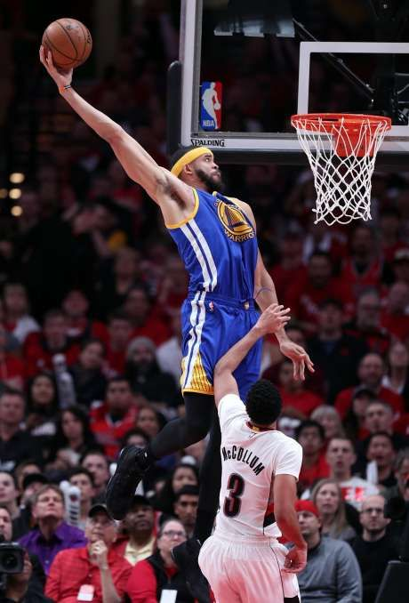 Image result for javale mcgee dunk warriors