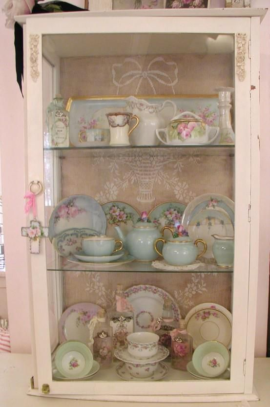 Sweet Pink China Cabinet