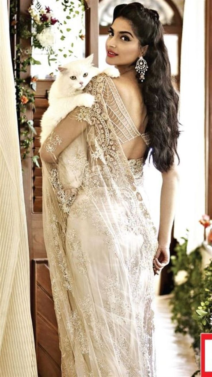 Soma Sengupta Indian Bridal- Jewelled Lacy White!