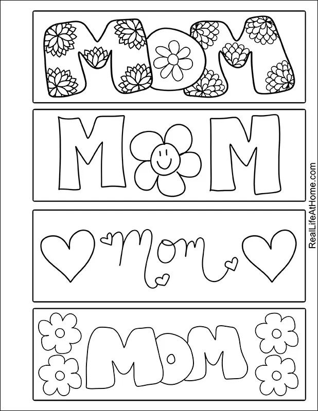 Free Printable Mother's Day Bookmarks for Kids in 2020 ...