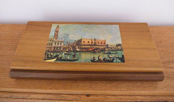 Vintage souvenir Venetian trinket box by freshdarling on Etsy