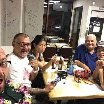 Ah-Lang Restaurant - Honolulu, HI, United States. Enjoying the food & company