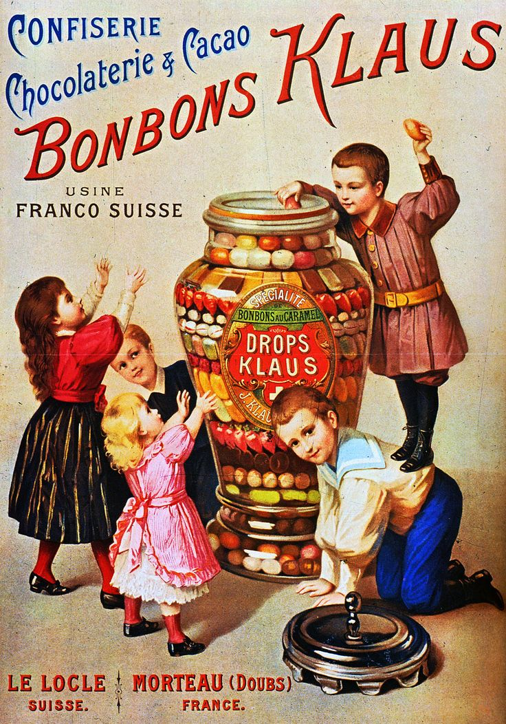 1894 Bonbons Klaus | Retro advert
