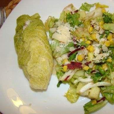 Recept Kuřecí prsa v listu kapusty s kozím sýrem od lussy - Recept z kategorie Hlavní jídla - maso